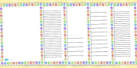 Balloon Portrait Page Borders