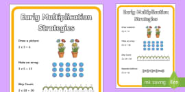 * NEW * Early Multiplication Strategies Display Poster