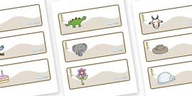 Meerkat Themed Editable Drawer-Peg-Name Labels