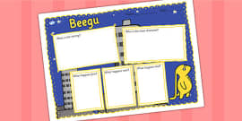 Book Review Writing Frame to Support Teaching on Beegu