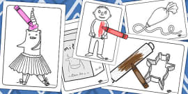 Colouring Sheets to Support Teaching on Biscuit Bear