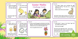 KS1 Easter Differentiated Maths Challenge Cards