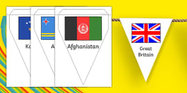 Rio Olympics 2016 Country Flags Bunting