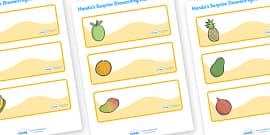 Handa's Surprise Editable Drawer-Peg-Name Labels