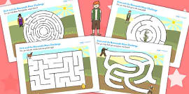 Jack and the Beanstalk Differentiated Maze Activity Sheet Pack