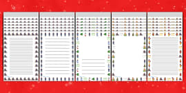 Page Borders to Support Teaching on The Jolly Christmas Postman