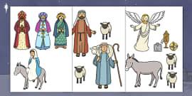 Cut Out Nativity Scene