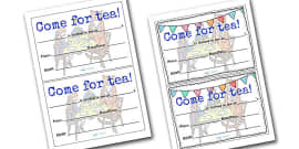 The Tiger Who Came to Tea Invitation Templates