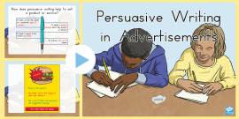 Australia - Persuasive Writing in Advertisements PowerPoint