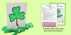 Shamrock Card Craft EYFS Adult Input Plan and Resource Pack