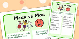 Mean vs Mad Visual Support