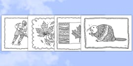 Canada Mindfulness Colouring Sheets