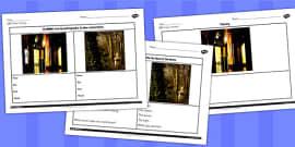 Tom's Midnight Garden Creating Settings Worksheets