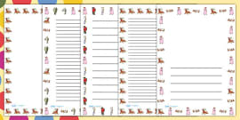 Page Borders to Support Teaching on Fantastic Mr Fox