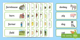Farm Word Cards