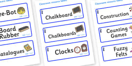 Wizard Themed Editable Additional Classroom Resource Labels
