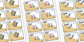 Camel Themed Editable Book Labels