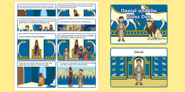 Daniel And The Lions Den Story Sequencing (4 per A4)