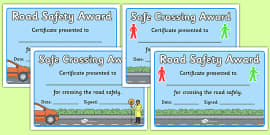 Road Safety Award Certificates