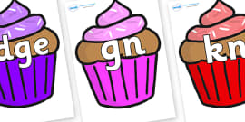 Silent Letters on Cupcakes