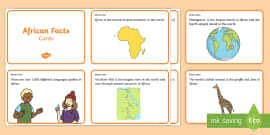 African Facts Challenge Cards