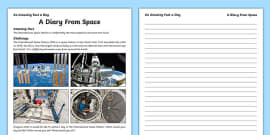A Diary From Space Activity Sheet