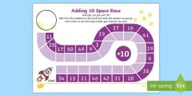 Adding 10 Race Activity Sheet