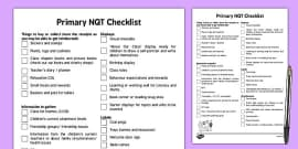 Primary NQT Tips and Checklist