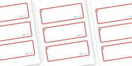 Koala Themed Editable Drawer-Peg-Name Labels (Blank)