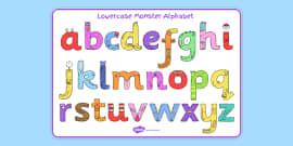 Lower-case Monster Alphabet Image Mat
