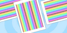 Rainbow Themed Display Borders Stripes