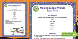Making Magic Wands Outdoor Activity