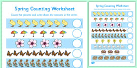 My Counting Activity Sheet (Spring)