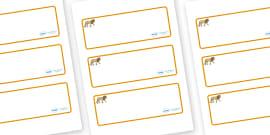 Lion Themed Editable Drawer-Peg-Name Labels (Blank)