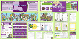 * NEW * Mardi Gras Grades 3-5  Resource Pack