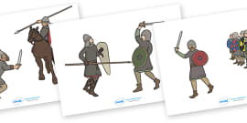 The Battle of Hastings Story Cut Outs