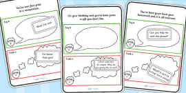 Think It Or Say It Sorting Scenario Card Activity