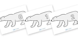 Numbers 0-100 on Polar Bears