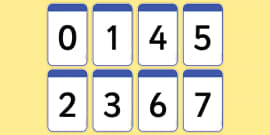 Number Cards 0-20