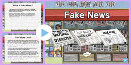 Teacher INSET What Is Fake News?  PowerPoint