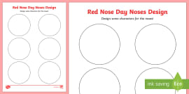 * NEW * Red Nose Day Noses Design Activity Sheet