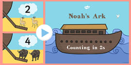 Noah's Ark Counting in 2s PowerPoint