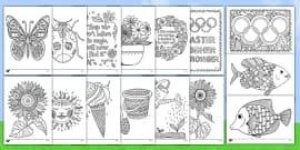 Summer Holiday Mindfulness Colouring Bumper Resource Pack