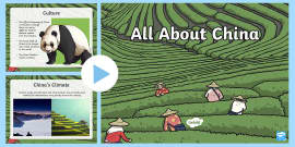 All About China PowerPoint