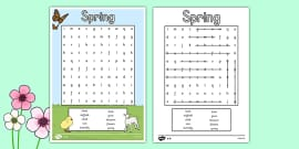 Spring Wordsearch