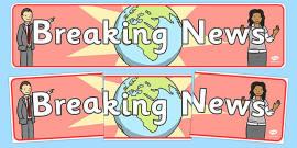 Breaking News Display Banner