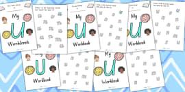 My Workbook U Uppercase