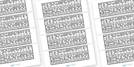 Braille Reverse Alphabet Strips