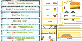 Lesson Plan and Enhancement Ideas EYFS to Support Teaching on Rosie's Walk