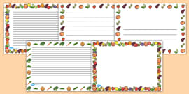 Fruit and Vegetables Full Page Borders (Landscape)